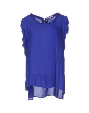 Блузка KORALLINE. Цвет: ярко-синий