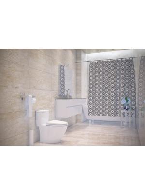 Штора д/ванн 180х200 Hamam сер. (шт.) Bacchetta. Цвет: темно-серый, белый