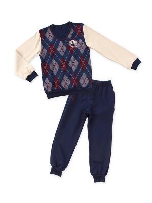 Комплект одежды Апрель. Цвет: темно-синий, темно-красный, молочный