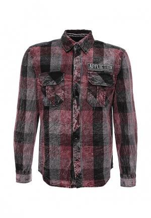 Рубашка Affliction. Цвет: бордовый