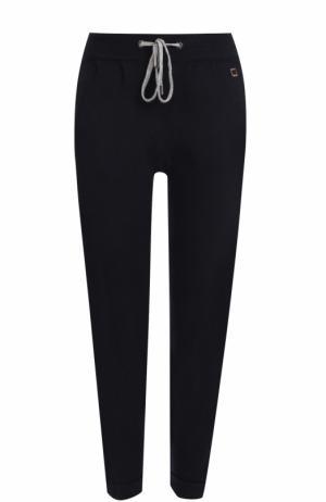 Укороченные кашемировые брюки с карманами Colombo. Цвет: темно-синий