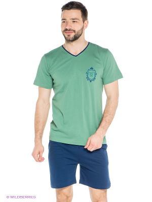 Комплект Vienetta Secret. Цвет: синий, зеленый