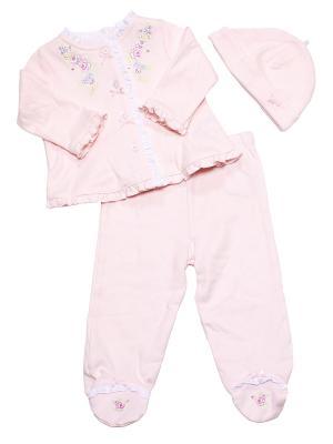 Комплект из 3-х предметов Нежность Little Me. Цвет: розовый