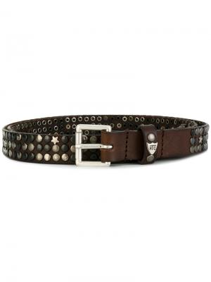 Studded buckle belt Htc Hollywood Trading Company. Цвет: коричневый
