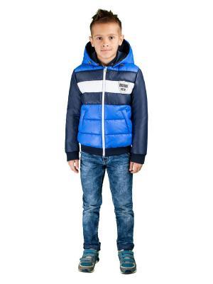 Куртка BOOM. Цвет: темно-синий,синий,белый