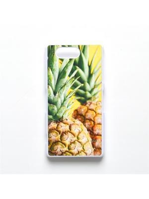 Чехол для Sony Xperia Z3 Compact Ананас Boom Case. Цвет: светло-зеленый, светло-желтый
