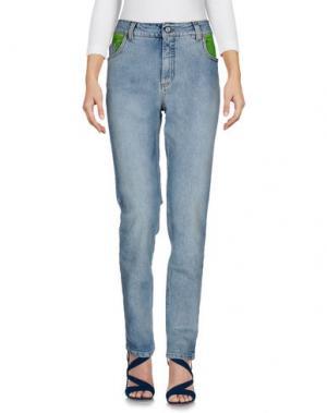 Джинсовые брюки JEREMY SCOTT. Цвет: синий