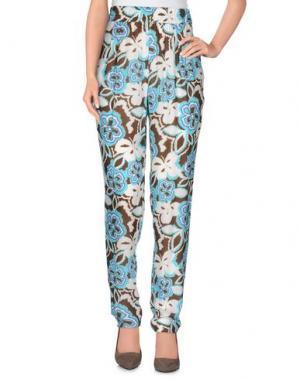 Повседневные брюки BIANCOGHIACCIO. Цвет: лазурный