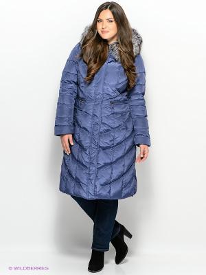 Пальто Vlasta. Цвет: синий, коричневый, бежевый