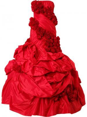 Длинное платье без бретелей Rubin Singer. Цвет: красный