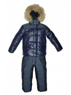 Комплект(куртка,полукомбинезон) BORELLI. Цвет: синий