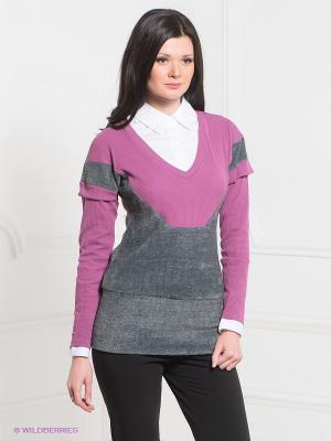 Пуловер MELANY. Цвет: розовый, серый