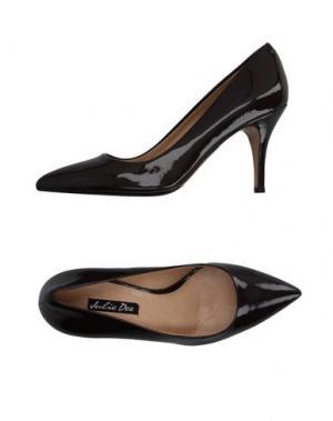 Туфли JULIE DEE. Цвет: темно-коричневый