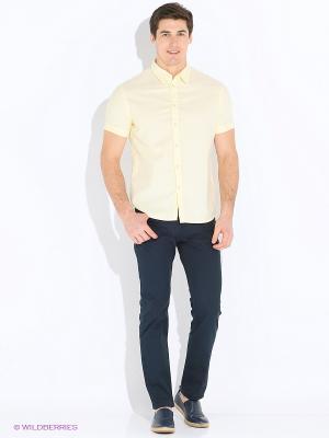 Рубашка INCITY. Цвет: желтый