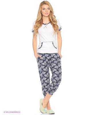 Женская пижама NICOLETTA. Цвет: белый, антрацитовый