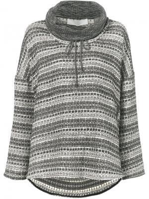 Полосатый свитер свободного кроя Thakoon Addition. Цвет: чёрный