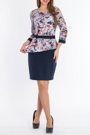 Платье S&A style. Цвет: сине-серый