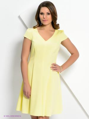 Платье AKIMBO. Цвет: желтый