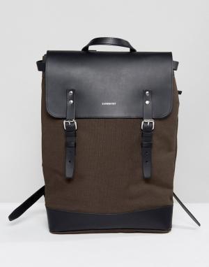 Sandqvist Зеленый рюкзак Hege. Цвет: серый
