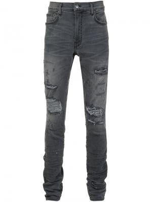 Shotgun skinny jeans Amiri. Цвет: серый