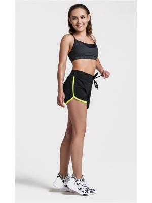 Спортивные шорты Sheldi. Цвет: черный, салатовый