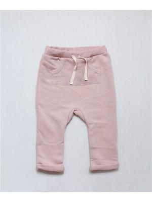Штанишки теплые с карманом пудровые TRENDYCO Kids. Цвет: бледно-розовый