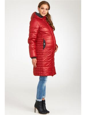 Пальто Modress. Цвет: красный