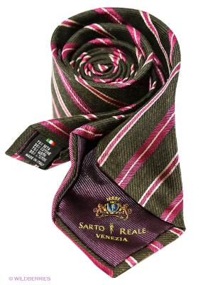 Галстук Sarto Reale. Цвет: фуксия, коричневый