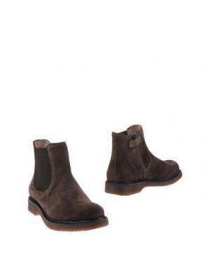 Полусапоги и высокие ботинки UNISA. Цвет: темно-коричневый