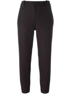 Укороченные брюки с ремнем Brunello Cucinelli. Цвет: розовый и фиолетовый