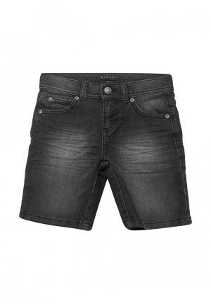 Шорты джинсовые Sisley. Цвет: черный
