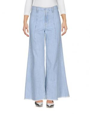 Джинсовые брюки AU JOUR LE. Цвет: синий