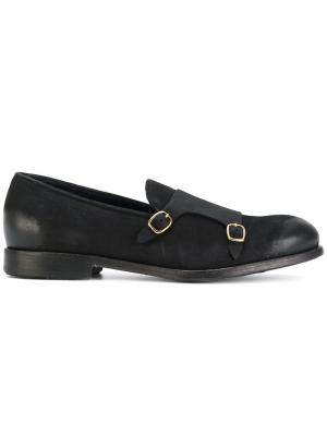 Туфли-монки с пряжками Leqarant. Цвет: чёрный