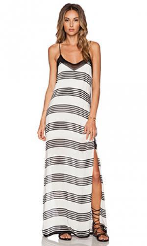 Макси платье nina Vix Swimwear. Цвет: черный