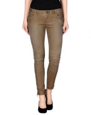 Джинсовые брюки NINE:INTHE:MORNING. Цвет: хаки