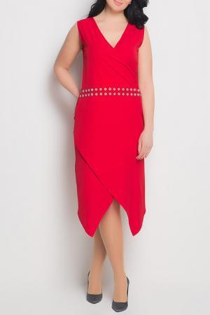 Платье Exline. Цвет: red
