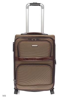 Чемодан JS-BAGS. Цвет: коричневый