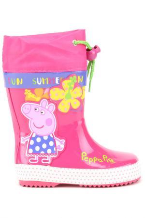Резиновые сапожки Peppa Pig. Цвет: фуксия