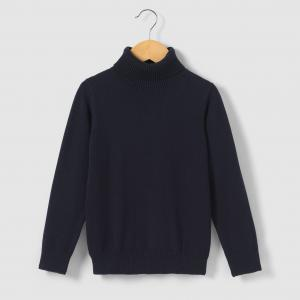Пуловер с высоким воротником, 3-12 лет R essentiel. Цвет: серый,синий морской