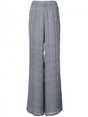 Широкие брюки Sally Lapointe. Цвет: чёрный