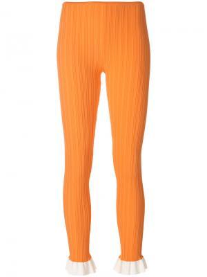 Трикотажные леггинсы Esteban Cortazar. Цвет: жёлтый и оранжевый