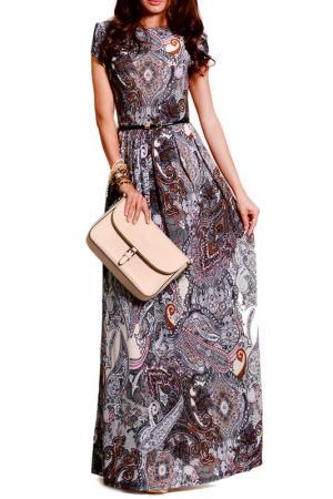 Платье FRANCESCA LUCINI. Цвет: светло-коричневый