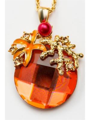 Кулон Fransua Ardy. Цвет: рыжий, оранжевый, светло-оранжевый