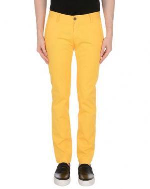 Повседневные брюки NICHOL JUDD. Цвет: желтый