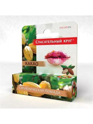Гигиеническая помада Какао 4.6мл. Спасательный круг. Цвет: белый