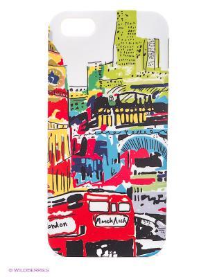 Чехол для IPhone 5 Лондон в красках Mitya Veselkov. Цвет: красный, белый