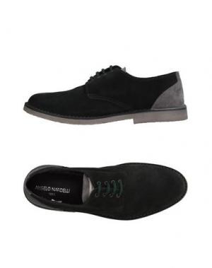 Обувь на шнурках ANGELO NARDELLI. Цвет: темно-зеленый