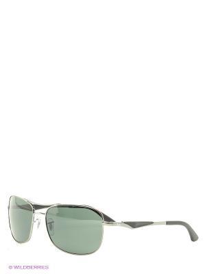 Очки солнцезащитные Ray Ban. Цвет: серебристый, зеленый