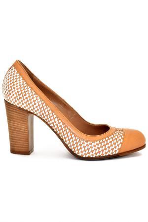 Туфли Fru.it. Цвет: светло-коричневый, белый