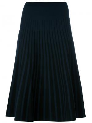 Плиссированная юбка Tomas Maier. Цвет: синий